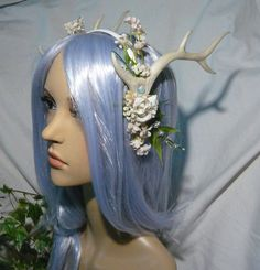 """Kirin of Westwinds - """" Made to order!"""" -wonderfull Hairdress with pearlescent Antlers"""