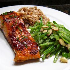 Miso glazed salmon.