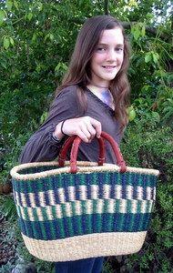 Shopping Bolga Basket
