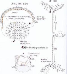 Вяжем птичку крючком - на веточке и в клеточке (8)