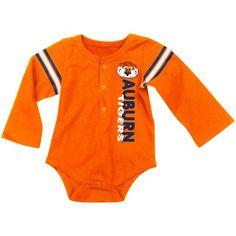 Auburn Tigers Overtime Long Sleeve Creeper - Orange