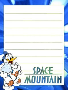 """Space Mountain - Project Life Disney Journal Card - Scrapbooking. ~~~~~~~~~ Size: 3x4"""" @ 300 dpi. This card is **Personal use only - NOT for sale/resale** Logos/clipart belong to Disney. ***Click through to photobucket for more versions of this card***"""