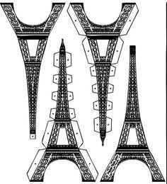 Kleurplaat Verjaardag Cadeautjes Eiffeltoren Bouwplaat Maken Pinterest Eiffeltoren