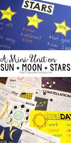 Hands on activities, science experiments, STEM connections, anchor charts and more--see it all in action for this sun, moon and stars NGSS unit!