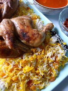 Chicken Majboos - Kuwaiti chicken and rice