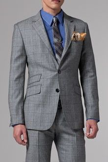 """""""the grey shadow plaid suit"""" Stupid name, nice look"""