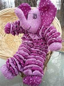 Fabric Yo-Yo Elephant
