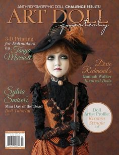 Get ready for fall with our stunning autumn issue of Art Doll Quarterly! Our annual Halloween issue offers an array of spectacular ghosts, witches, goblins, and other creatures of the night. You'll also learn to make mini Day of the Dead dolls with Sylvia Smiser, and how to paint faces on cloth dolls with Terese Cato.