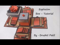 This Video is a Tutorial Video of How to make or Assemble an Explosion Box Opening box origami youtu.be/HUhOQAQCb_E Secret Message Card youtu. Basic Box Making Explosion Box Tutorial, Mini Album Tutorial, Box Cards Tutorial, Card Tutorials, Boite Explosive, Diy Paper, Paper Crafts, Exploding Gift Box, Scrapbook Box