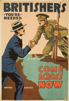 DP Vintage Posters - Come Across Now Original Vintage British WWI Poster