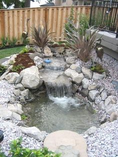 Image result for waterfall features for ponds  #WaterGardening