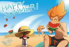 Summer greeting card by yamiyonofen on DeviantArt