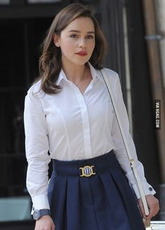 Emilia Clarke, on the set of Me Before You