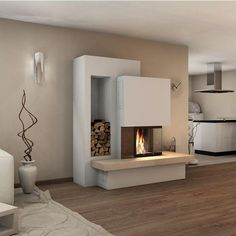 Kaminbausatz Spartherm Varia Kamin Einsatz – – My World Fireplace Kits, Fireplace Inserts, Modern Fireplace, Fireplace Design, Fireplace Furniture, Home And Living, Living Room, Apartment Living, Built In Bed