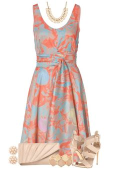 Mix Floral Print Day Dress... If I ever go to a garden party. Or a morning wedding!