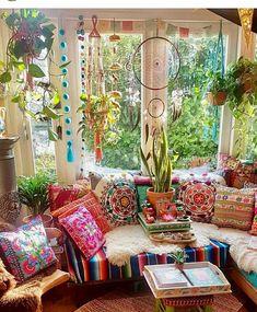 sch ner hippie boho kissenmix buntes wohnen living colourful pinterest hippie boho. Black Bedroom Furniture Sets. Home Design Ideas