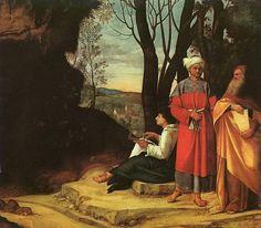 The Three Philosophers,  Giorgione,  c. 1505-1509