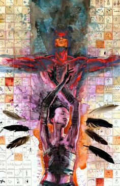"""David Mack's work on """"Daredevil"""". Bringing a mixed media/collage art style to a mainstream comic was brilliant."""