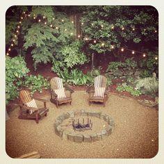 Ideas Backyard Fire Pit Ideas Diy Pea Gravel For 2019 Backyard Sitting Areas, Fire Pit Backyard, Backyard Patio, Backyard Landscaping, Backyard Ideas, Patio Ideas, Backyard Beach, Backyard Designs, Landscaping Ideas