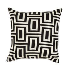 Black and Ivory Maze Pillow