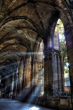 Arches in Barcelona, Spain.  Photo via edwin on bluepueblo