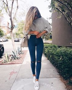 Pinterest: @notcaley 🍀 #thisdresstho #stripeslove #blackblack ❤