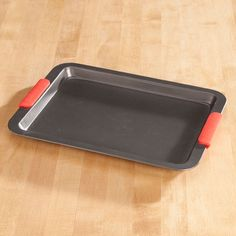 Baking Sheet with Red Silicone Handles by Home-Style Kitchen™ - Zoom