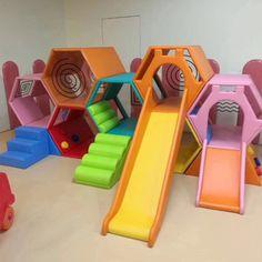 Source honeycomb maze indoor soft slide playground kids soft play equipment on m. Indoor Playroom, Toddler Playroom, Toddler Bed, Indoor Play Equipment, Soft Play Equipment, Playground Slide, Kids Indoor Playground, Soft Play Area, Toddler Climbing