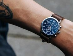 Horween Leather Elevates the Timex Weekender Chronograph.