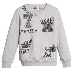 Boys Grey Logo Sweatshirt