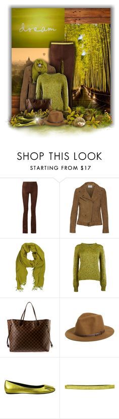 """""""Brown & Chartreuse Dream"""" by laurenjane47 ❤ liked on Polyvore featuring Joseph, W118 by Walter Baker, La Fiorentina, Ermanno Scervino, Louis Vuitton, Sole Society, Roger Vivier, Sparkly Soul, Sif Jakobs Jewellery and women's clothing"""