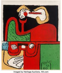 Prints:European Modern, Le Corbusier (1887-1965). Portrait, 1960. Lithograph incolors on wove paper. 28 x 23-5/8 inches (71.1 x 59.9 cm) (image...
