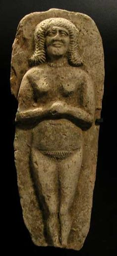 Old Babylonian Clay Moulded Plaque of a Standing Deity -  Origin: Mesopotamia Circa: 2000 BC to 1700 BC