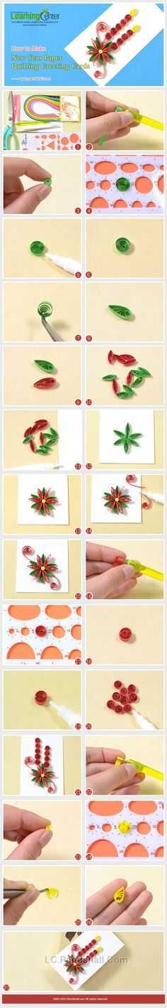 How to Make New Year Paper Quilling Greeting Cards