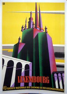 1930 Luxembourg Poster by Graphic Studio MEHLEN