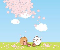 Molang enjoying a lovely spring day.