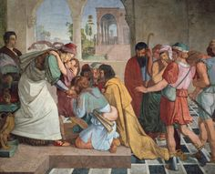 Joseph Reveals Himself to His Brothers: by Peter von Cornelius (Alte Nationalgalerie, Berlin) - Romanticism Jacob And Rachel, Sons Of Jacob, Franz Xaver Winterhalter, Tempera, A4 Poster, Poster Prints, Free Bible Images, Museum, Ludwig