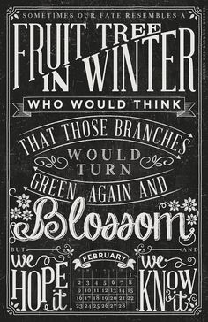 2014 Quotable Chalkboard Typography Wall by lizcarverdesign, $29.00