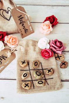 Wedding games for the Agape - Fanelia- Hochzeitsspiele für die Agape – Fanelia DIY wedding game for the agape: Tic Tac Toe in a jute bag. Guest gift for the little wedding guests - Hanging Wedding Decorations, Anniversary Decorations, Diy Wedding Games, Wedding Favors, Wedding Ideas, Backyard Wedding Lighting, 16th Birthday Gifts, Best Wedding Gifts, Baby Shower Party Favors