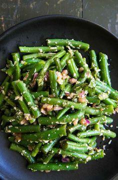 Green Bean Salad with Basil, Balsamic, and Parmesan Recipe   SimplyRecipes.com