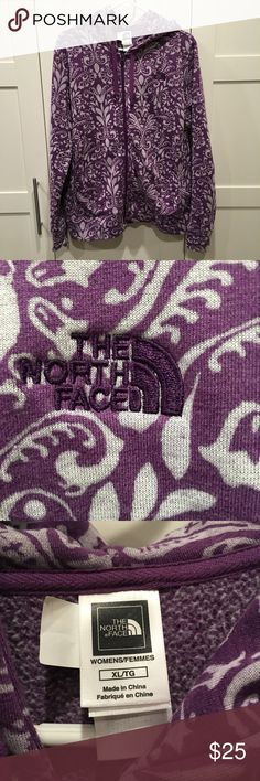 North Face Jacket Only worn 2 times. XL purple paisley pattern. The North Face Jackets & Coats