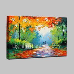 Pintada a mano Paisaje Paisajes Abstractos Horizontal,Modern Un Panel Lienzos Pintura al óleo pintada a colgar For Decoración hogareña 2018 - $51.99