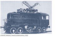 Kandó mozdony A világ első fázisváltós villamos mozdonya 1923. október 31-én indult próbaútjára.