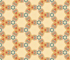 Scandinavian Holiday ~   Johanna  fabric by peacoquettedesigns on Spoonflower - custom fabric