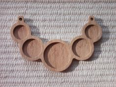 1 p unfinished 5 round wooden pendant tray with 25, 18, 14 mm cabochon frames,wooden blank jewellery supply,bezel cup,making jewellery
