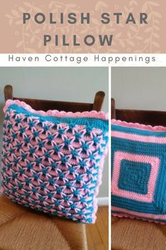 Free crochet pattern for the Polish Star Pillow @ Haven Cottage Happenings