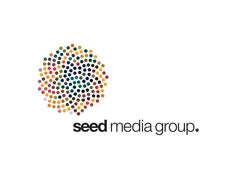 Context-speciic logo: Seed Media Group Identity: 'we developed an identity like a chameleon, it always takes on the form of the medium it is put on. So for example on the business cards it shows a version of the portrait of the bearer or in the logo in the magazine has the colors of the months cover.