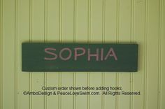 Personalized Swimming Ribbon and Medal Display Hanger.  You pick the colors!  View it today at www.PeaceLoveSwim.com