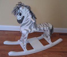Classic Rocking Horse - Zebra Theme