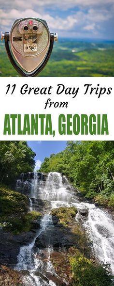 11 great day trips from Atlanta, Georgia - Travel Atlanta Georgia, Savannah Georgia, Hiking In Georgia, Usa Travel Guide, Travel Usa, Travel Tips, Travel Ideas, Travel Advice, Viajes